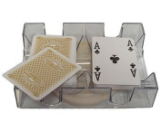2 Deck Revolving Rotating Canasta Playing Card Tray