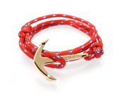 VIRGINSTONE Gold Plated Anchor Bracelets on Colourful Nylon Ropes
