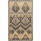 Safavieh Kenya Collection KNY656A Hand-Knotted Gold and Beige Wool Area Rug, 1.2m by 1.8m