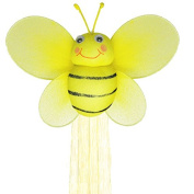The Butterfly Grove Bumblebee Curtain Tieback, Yellow Daffodil, Small, 13cm x 10cm