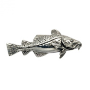 Sterling Silver Cod Fish Pin