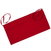 """Chef Revival 605WAFH Poly Cotton """"Front of the House"""" Waist Apron, 60cm by 30cm , Red"""
