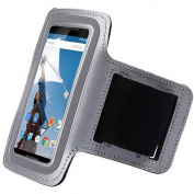 Gray ArmBand Workout Case Cover For Motorola Nexus 6