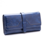 Minetom Fashion Genuine Leather Wallet Women Long Style Purse Bag ID Credit Card Holder Coin Purses