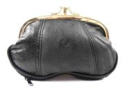 LADIES SMALL LEATHER CLIP TOP PURSE IN 4 COLOURS 1486