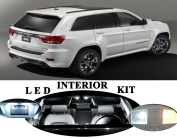 Jeep Grand Cherokee Xenon White LED Package Upgrade - Interior + Licence plate / Tag + Vanity / Sunvisor