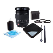 Fujifilm XF 16-55mm F2.8 R LM WR (Weather Resistant) Lens - Bundle With 77mm Filter Kit (UV/CPL/ND2), Lens Wrap (19X19), Cleaning Kit, Capleash II