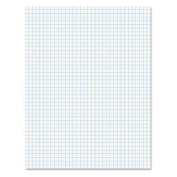 TOPS PRODUCTS 6.8kg Quadrille Pad w/4 Squares/Inch, Letter, White, 1 50-Sheet Pad/Pack