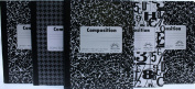 Norcom Wide Ruled Composition Notebooks Black White Designs