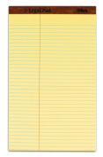 TOPS The Legal Pad Legal Pad, 22cm x 36cm , Perforated, Canary, Law Rule, 50 Sheets per Pad, 12 Pads per Pack