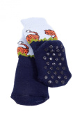 Sock Leopard (anti-slide coating) for small active children during standing and walking. Size:9-12 Months , Colour