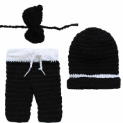 TiaoBug Newborn Baby Crochet Knit Pants Hat Photo Photography Prop Costume Outfits