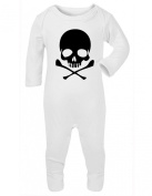 Halloween Skull and Crossbones 2 Baby Rompersuit / Playsuit