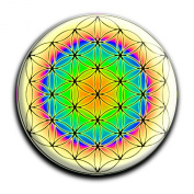 """Magnet in a round shape """"Flower of Life"""""""