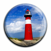 """Magnet in a round shape """"Lighthouse"""""""