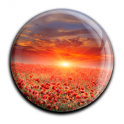 """Magnet in a round shape """"Poppy"""""""