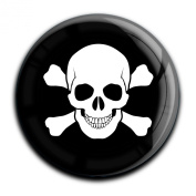 """Magnet in a round shape """"Skull"""""""