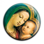"""Magnet in a round shape """"Virgin Mary with Child"""""""