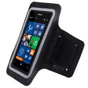Black ArmBand Workout Case Cover For Nokia Lumia 520