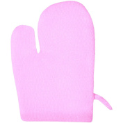 City Action Nylon Anti-Cellulite Massage & Body Polishing Glove, Pink