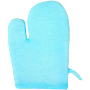 City Action Nylon Anti-Cellulite Massage & Body Polishing Glove, Blue