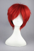 30cm Red Short Colour Cosplay Wigs For Akashi Seijuro Of Kuroko No Basketball And Halloween Wigs
