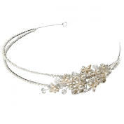 Clearbridal Women's Vintage Pearls Hairband Handmade Bridal Hair Accessories 18082