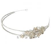 Clearbridal Women's Vintage Pearls Hairband Handmade Bridal Hair Accessories 18082
