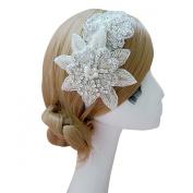Clearbridal Women's Bridal Wedding Rhinestones Pearls Hair Band Accessories 18075