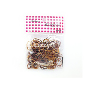 250 x Ultra Thin Mixed Brown Rubber Hair Band Bobbles by Lizzy®