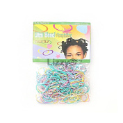 250 x Ultra Thin Mixed Blue Rubber Hair Band Bobbles by Lizzy®