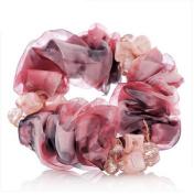 cuhair(tm)Women Girl 1pcs Cloth Design Scrunchie alloy Punk Elastic Hair Tie Hair Rope Rubber Ponytail Holder Accessories