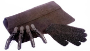 Cloud Nine Croc Clips, Black Mateque Heatproof Travel mat & Heat Protective glove For use with Cloud 9 & GHD