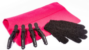 Cloud Nine Croc Clips, Pink Mateque Heatproof Travel mat & Heat Protective glove For use with Cloud 9 & GHD
