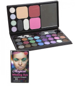 MAGICAL WINKING EYE COMESTIC COMPACT 33 COLOUR SET WITH MIRROR & BLUSHER