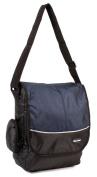 HB-S-02 Black Navy Messenger Unisex School Shoulder Bag with Organiser Section