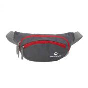 Maleroads Grey Hip Pack Tactical Waist Packs Waterproof Waist Bag Outdoor Sport Fanny Pack Belt Bag Hiking Climbing Outdoor Bumbag 11*11*20cm