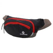 Maleroads Black Hip Pack Tactical Waist Packs Waterproof Waist Bag Outdoor Sport Fanny Pack Belt Bag Hiking Climbing Outdoor Bumbag 14*11*28cm