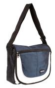HB-S-01 Black Navy Messenger Unisex School Shoulder Bag with Organiser Section