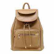 Shijinshi Women's Leather Crease Resistant Backpack