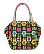 Fortuning's JDS® Fashionable printed style canvas hand bag purse for women