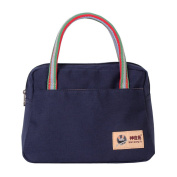 Fortuning's JDS® Women's classic casual canvas tote bag daily purse handbag, blue