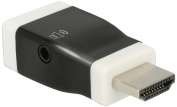 DeLOCK adaptor HDMI-A St _ VGA female with Audio - (screwless), 65586