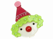 Glitz4Girlz Clown Resin Hair Clip - Lime