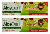 Multibuy 2x AloeDent® Strawberry Flavoured Fluoride Free Children's Toothpaste 50ml