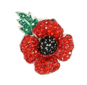 Angelys Poppy Jewellery - Four Petal Brooch - New Design - Gift Boxed