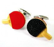 Table Tennis Cufflinks Ping Pong Cuff Links Sports Hand Painted Gemelos 230072-2