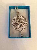 "Large Celtic Knot PP-G38 kilt pin Scarf or Brooch pin pewter emblem 3"" 7.5 cm"