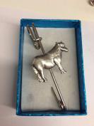 "Shetland Pony E06 Horse & Equestrian kilt pin Scarf or Brooch pin pewter emblem 3"" 7.5 cm"