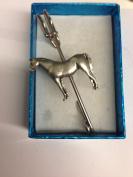 "Arab Horse E08 Horse & Equestrian kilt pin Scarf or Brooch pin pewter emblem 3"" 7.5 cm"